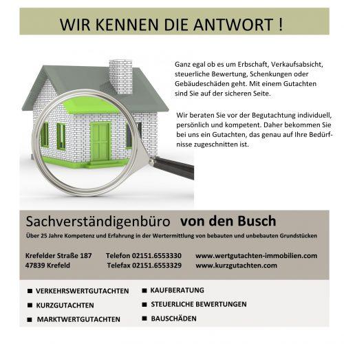 Hausbewertung und Hauskaufberatung bundesweit